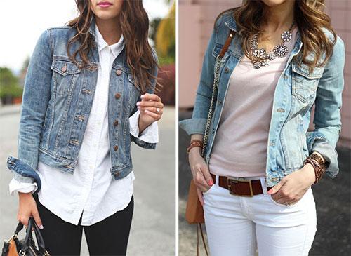 Για μια πιο σπορ εμφάνιση επιλέξτε να φορέσετε ένα τζιν μπουφάν πάνω από το  Jean 745d19920a0