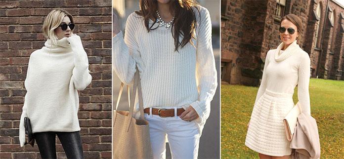 Ένα λευκό πουλόβερ αποτελεί μια πολύ όμορφη λύση για το χειμερινό σας  ντύσιμο. Συνδυάζεται πολύ εύκολα με όλα σας τα παντελόνια και τις φούστες 3441625980f