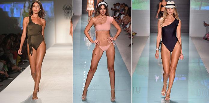 1cfc88345e4 Μαγιό ολόσωμα ή μπικίνι σε μεγάλη ποικιλία αποχρώσεων κατέκλυσαν την  πασαρέλα. Οι διάσημοι σχεδιαστές μόδας έδειξαν τις υπέροχες δημιουργίες  τους που ...