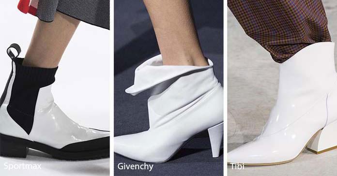189b61adcac0 Μια ακόμη από τις κορυφαίες τάσεις στα παπούτσια για το Φθινόπωρο / Χειμώνα  2018 – 2019 είναι τα λευκά μποτάκια. Το άσπρο χρώμα σας δίνει την ευκαιρία  να ...