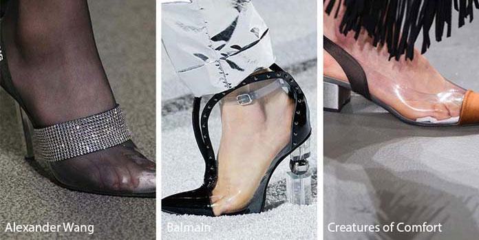 b25916cdf0c Παπούτσια εξ ολοκλήρου από διάφανο υλικό ή διακοσμημένα με διάφανα σημεία  θα φορεθούν πολύ αυτό το Φθινόπωρο / Χειμώνα.