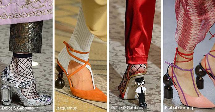 d5f9d32d65 ... οι διάσημοι οίκοι μόδας παρουσίασαν ως μια από τις κορυφαίες τάσεις στα  παπούτσια για το Φθινόπωρο   Χειμώνα 2018 -2019 τα τακούνια έργα τέχνης.
