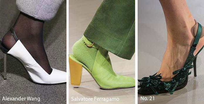 e5d0907f189 Τα kitten heels αποτελούν τα πιο δημοφιλή τακούνια γι' αυτά τα παπούτσια,  υπάρχουν όμως και εντυπωσιακά ψηλοτάκουνα στιλέτο.