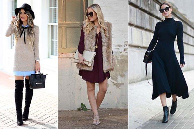 0a9e0e13296f ... θέλουμε να φορέσουμε ένα φόρεμα τον χειμώνα. Υπάρχουν ωστόσο πολλοί  διαφορετικοί τρόποι για να το συνδυάσετε