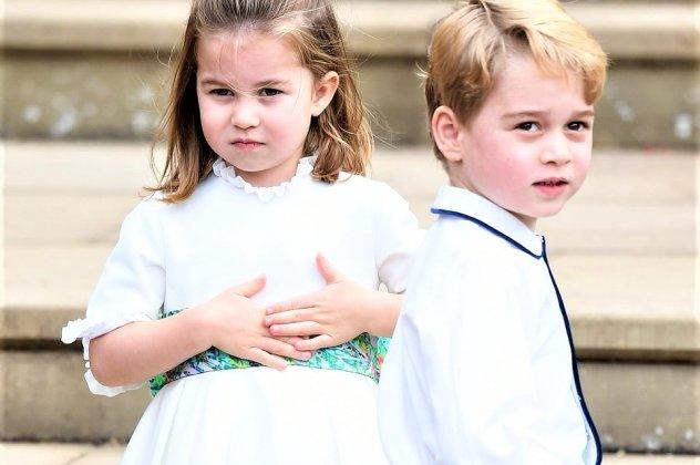 8f687ec98c78 Γάμος Πριγκίπισσας Ευγενίας: Τι φόρεσαν τα παρανυφάκια George & Charlotte -  Η floral ζώνη και στων δυο, τα outfits - Φώτο | eirinika.gr
