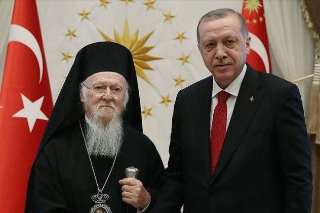 Οικουμενικός Πατριάρχης Βαρθολομαίος: Εξοχότατε πρόεδρε Ερντογάν ...