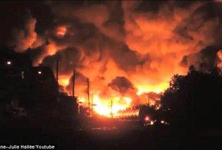 Κόλαση πυρός στην Βιρτζίνια: Εξερράγησαν τρένα φορτωμένα πετρέλαιο, εκκενώθηκαν 2 ολόκληρες πόλεις! (φωτό - βίντεο) - Κυρίως Φωτογραφία - Gallery - Video