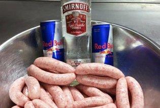 Προσοχή! Αυτά τα λουκάνικα θα σας μεθύσουν – έχουν γεύση βότκα Redbull - Κυρίως Φωτογραφία - Gallery - Video