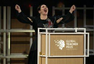 Topwoman η Ελληνοκύπρια Άντρια Ζαφειράκου: Βραβεύτηκε με 1 εκατ. δολάρια ως η καλύτερη δασκάλα στον κόσμο (ΦΩΤΟ - ΒΙΝΤΕΟ) - Κυρίως Φωτογραφία - Gallery - Video
