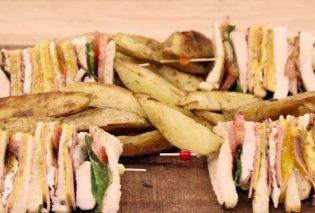Φανταστικό κλαμπ σάντουιτς από τον Άκη Πετρετζίκη - Κυρίως Φωτογραφία - Gallery - Video