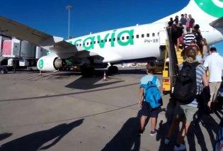 Αεροσκάφος της transavia σε έκτακτη προσγείωση λόγω δυσοσμίας επιβάτη- Λιποθυμίες & εμετοί των άλλων - Κυρίως Φωτογραφία - Gallery - Video
