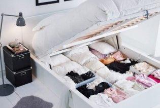 Δεν έχετε αρκετό χώρο για όλα σας τα ρούχα; Ο Σπύρος Σούλης προτείνει τρόπους για να τα αποθηκεύσετε εκτός ντουλάπας - Κυρίως Φωτογραφία - Gallery - Video