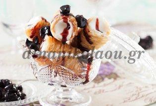 «Μοντέρνο» αλλά γευστικό σαραγλί γεμιστό με παγωτό καϊμάκι από την Ντίνα Νικολάου - Κυρίως Φωτογραφία - Gallery - Video