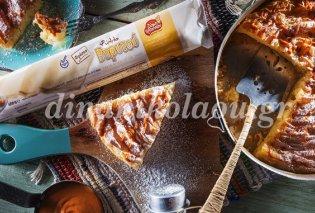 Η Ντίνα Νικολάου προτείνει γαλατόπιτα με ντελικάτο φύλλο Βηρυτού, μοσχοβολιστό βούτυρο αλλά και μια γρήγορη σάλτσα καραμέλας που θα λατρέψετε - Κυρίως Φωτογραφία - Gallery - Video