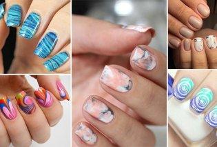 Εντυπωσιακά σχέδια στα νύχια με νερό και βήμα βήμα ο τρόπος δημιουργίας τους - Κυρίως Φωτογραφία - Gallery - Video