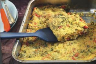 Η Αργυρώ Μπαρμπαρίγου προτείνει: Πιπερόπιτα ανοιχτή με τυριά, superfoods, χρωματιστές πιπεριές και κανταΐφι - Κυρίως Φωτογραφία - Gallery - Video