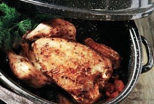 Η Αργυρώ Μπαρμπαρίγου προτείνει: Τραγανό κοτόπουλο φούρνου με λεμονάτη σάλτσα - Κυρίως Φωτογραφία - Gallery - Video