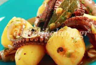 Πεντανόστιμο χταποδάκι στην κατσαρόλα με πατάτες - Από την Ντίνα Νικολάου - Κυρίως Φωτογραφία - Gallery - Video