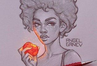 Νεαρός καλλιτέχνης δημιουργεί απίστευτα σκίτσα με εσωτερική λάμψη σε αιθέρια πλάσματα - Φώτο   - Κυρίως Φωτογραφία - Gallery - Video