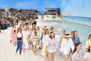 Ο Καρλ Λάγκερφελντ έστησε για τη Chanel ολόκληρη παραλία μέσα στο Grand Palais - Φωτογραφίες από την καλοκαιρινή κολεξιόν για το 2019 - Κυρίως Φωτογραφία - Gallery - Video