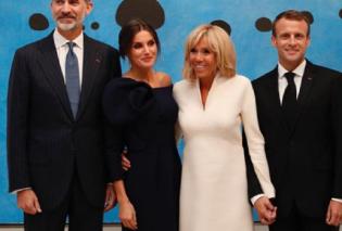Βασιλιάς της Ισπανίας Φελίπε και Λετίσια στο Παρίσι με Μακρόν - Ποια είναι η ομορφότερη καθρέφτη καθρεφτάκι μου; (φώτο) - Κυρίως Φωτογραφία - Gallery - Video