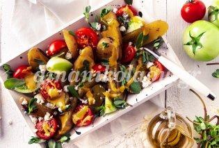 Ντίνα Νικολάου: Σαλάτα με ψητές πατάτες, γλυστρίδα, κόκκινες και πράσινες ντομάτες - Κυρίως Φωτογραφία - Gallery - Video