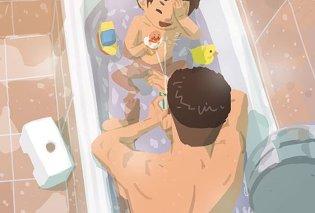 "Single μπαμπάς θα ""λιώσει την καρδιά"" σας: 38 σκίτσα που δείχνουν τις πολύτιμες στιγμές γονιού & παιδιού  - Κυρίως Φωτογραφία - Gallery - Video"