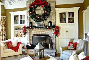 Αχ τι όμορφες παραμυθένιες & ρομαντικές είναι οι Χριστουγεννιάτικες γιρλάντες πάνω από το τζάκι μας! Φώτο - Κυρίως Φωτογραφία - Gallery - Video