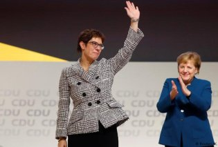 H Ανεγκρετ Κραμπ-Καρενμπάουερ διάδοχος της Μέρκελ στην προεδρία του CDU  - Κυρίως Φωτογραφία - Gallery - Video