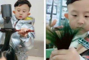 Βίντεο: Ο 6χρονος λιλιπούτειος κομμωτής που έχει γίνει viral - Κυρίως Φωτογραφία - Gallery - Video