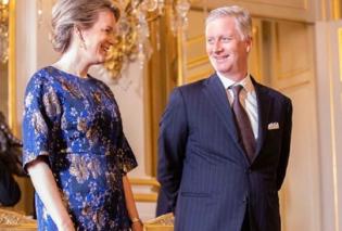 Εντυπωσιακή η βασίλισσα Ματθίλδη του Βελγίου στην πρώτη δεξίωση του χρόνου (φώτο) - Κυρίως Φωτογραφία - Gallery - Video