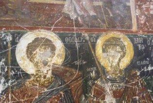 Μόνο στο eirinika.gr : με «σκαμμένα - κατεστραμμένα» τα μάτια όλων των Αγίων μας από τους Τούρκους στην αριστουργηματική Παναγιά Μαυριώτισσα της Καστοριάς (φωτογραφίες) - Κυρίως Φωτογραφία - Gallery - Video
