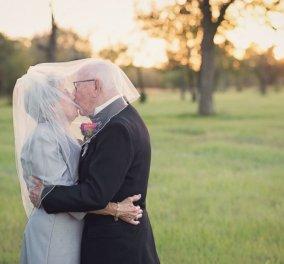 Αυτό το ζευγάρι γιόρτασε τα 70 χρόνια γάμου του & έκανε την πιο αγαπησιάρικη φωτογράφιση για την επέτειο  - Κυρίως Φωτογραφία - Gallery - Video