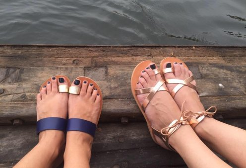 Made in Greece τα Bohemian Greek Sandals: Χειροποίητα δερμάτινα σανδάλια με boho αισθητική - Ταξιδεύουν ως το Ντουμπάι - Κυρίως Φωτογραφία - Gallery - Video