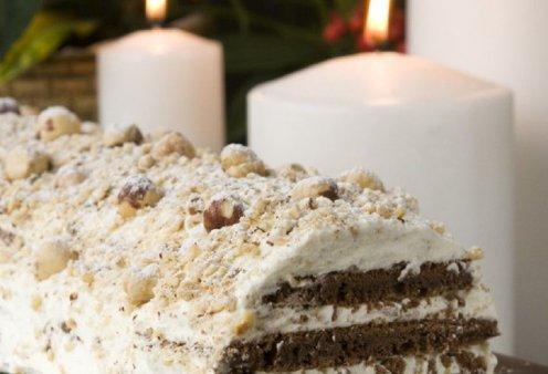 Ο Στέλιος Παρλιάρος μας ενθουσιάζει: Ονειρικός ο χριστουγεννιάτικος κορμός με σοκολάτα & φουντούκια  - Κυρίως Φωτογραφία - Gallery - Video