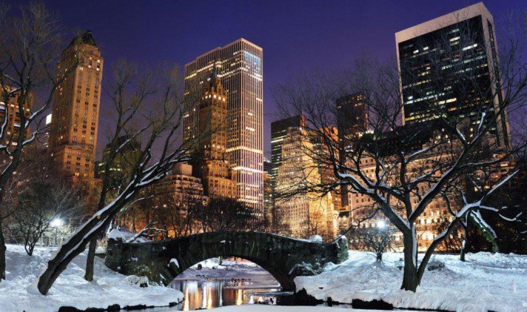 Πανέμορφες χειμωνιάτικες και χιονισμένες φωτογραφίες από το διάσημο Central Park της Νέας Υόρκης - Απλά μαγευτικό! - Κυρίως Φωτογραφία - Gallery - Video