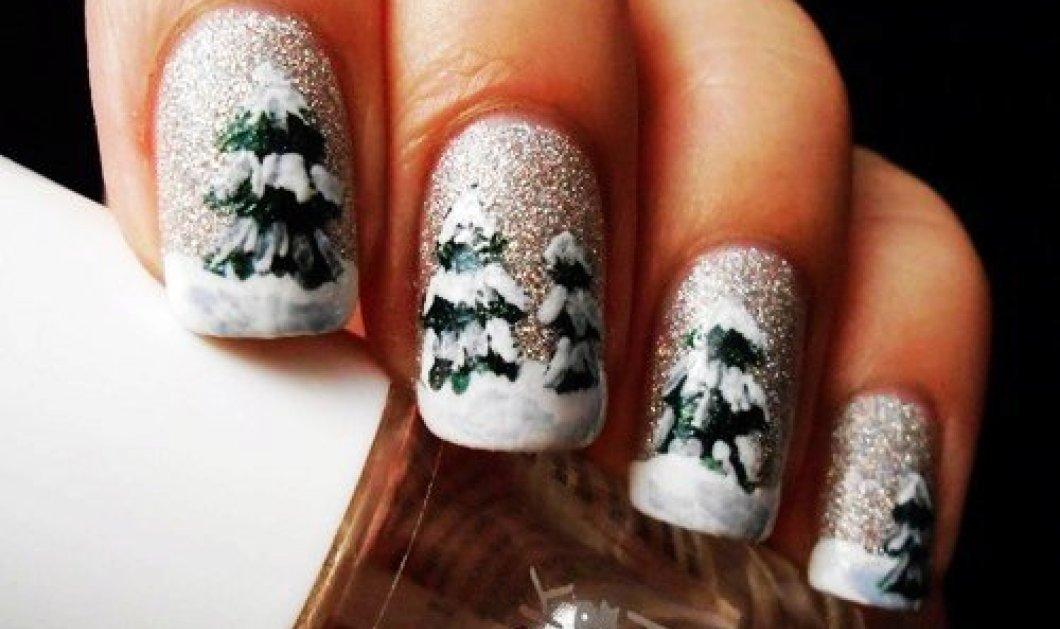 Χριστουγεννιάτικα δένδρα ή αγιοβασίληδες σε σχεδιάκια για το μανικιούρ σας: Θα σας προσέχουν από την κορυφή ως τα νύχια! - Κυρίως Φωτογραφία - Gallery - Video