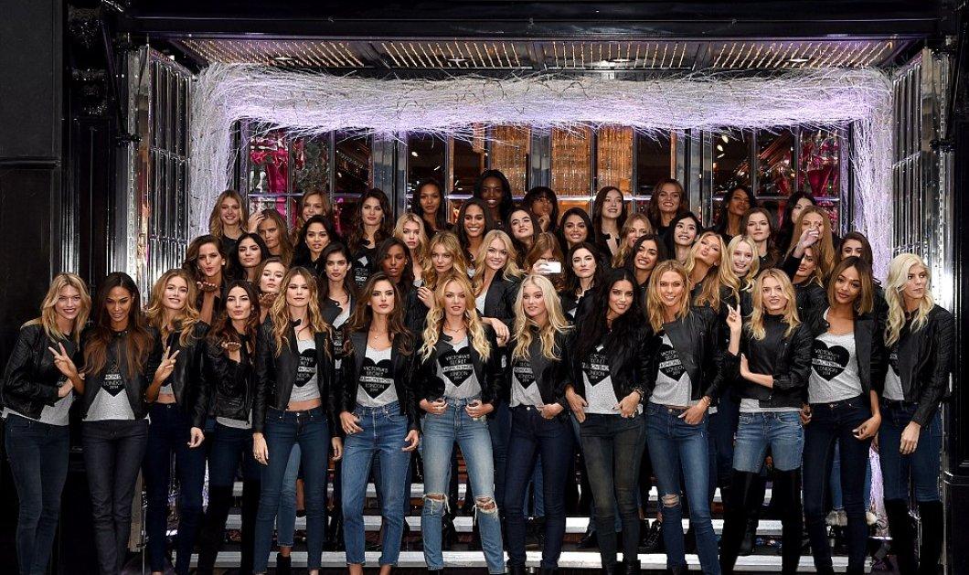 Πόση ομορφιά μαζεμένη!; Τα μοντέλα της Victoria's Secret ποζάρουν μαζί στο υποκατάστημα του Λονδίνου πριν το catwalk! (slideshow) - Κυρίως Φωτογραφία - Gallery - Video