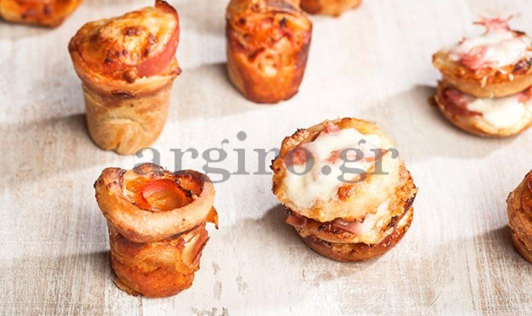 Όταν η αρχόντισσα της κουζίνας Αργυρώ καινοτομεί: Πίτσα σε cupcake &πίτσα muffin: Argylicious!  - Κυρίως Φωτογραφία - Gallery - Video