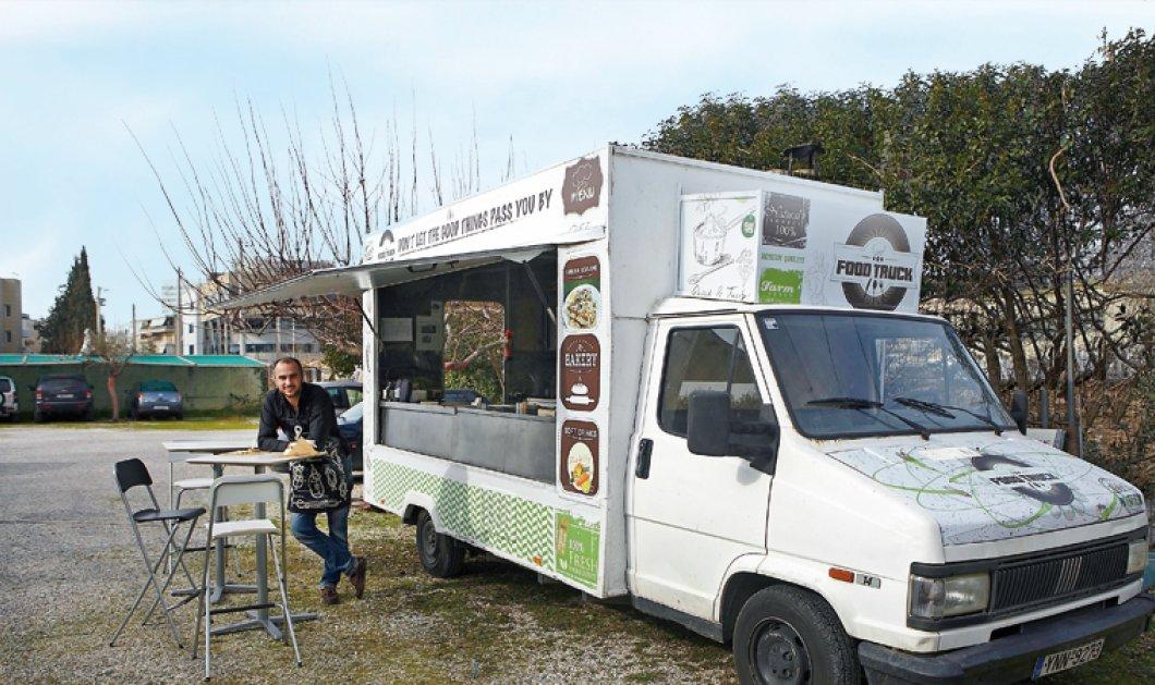 Ο Γιώργος ο αστροφυσικός άνοιξε το ''FoodTruck'' του & πουλάει πίτες με σπανάκι, φέτα, δυόσμο, μυρώνια & κασέρι ΠΟΠ Μυτιλήνης! (φωτό)  - Κυρίως Φωτογραφία - Gallery - Video