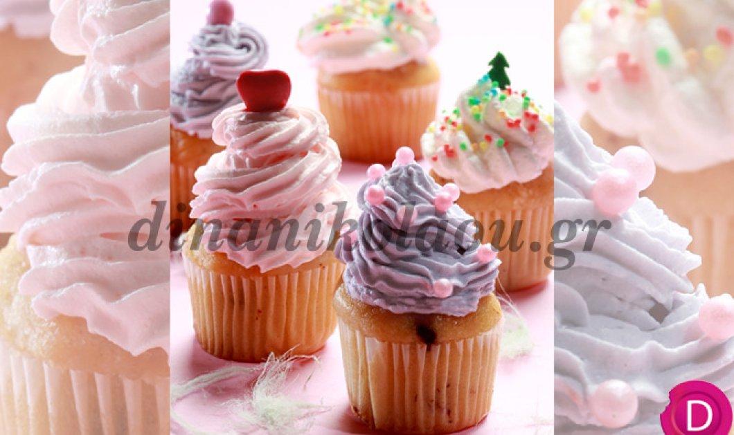 Cupcakes βανίλιας με ροζ και μοβ γλασάρισμα - Το τέλειο γλυκό για την ημέρα του Αγίου Βαλεντίνου από την Ντίνα Νικολάου! - Κυρίως Φωτογραφία - Gallery - Video