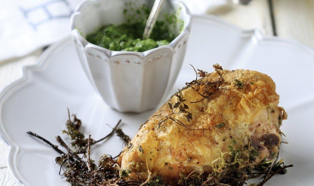Κοτόπουλο με πράσινη σάλτσα από μυρώνια από τον ταλαντούχο σεφ Άκη Πετρετζίκη! - Κυρίως Φωτογραφία - Gallery - Video