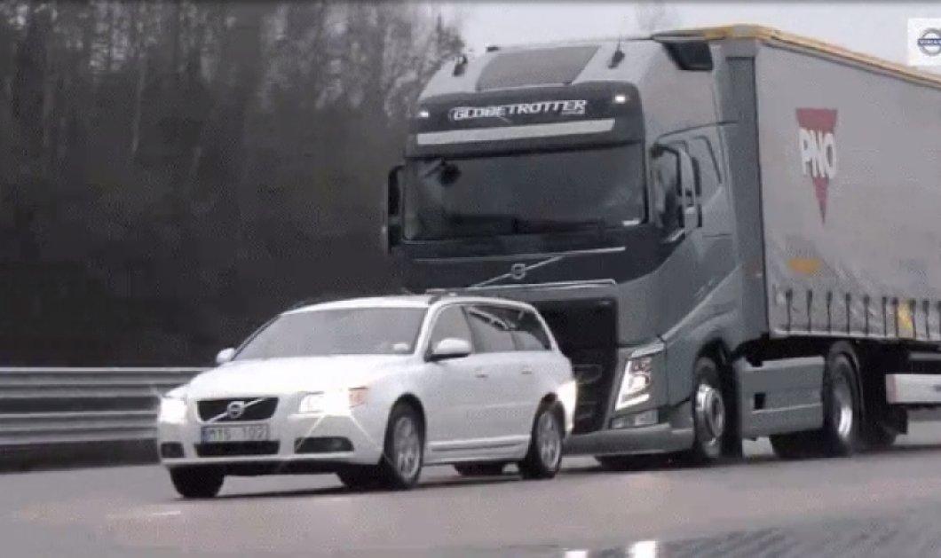 Πως σταματά ένα φορτηγό της Volvo γεμάτο 40 τόνους φορτίο; - Τι ετοιμάζει η Mercedes! (Βίντεο) - Κυρίως Φωτογραφία - Gallery - Video
