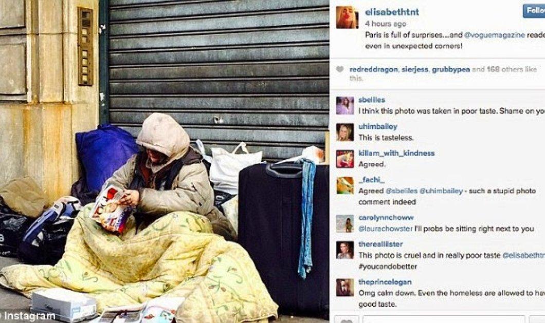 Η φωτογραφία που κάνει τον γύρο του διαδικτύου: Άστεγη στο Παρίσι διαβάζει Vogue! - Κυρίως Φωτογραφία - Gallery - Video