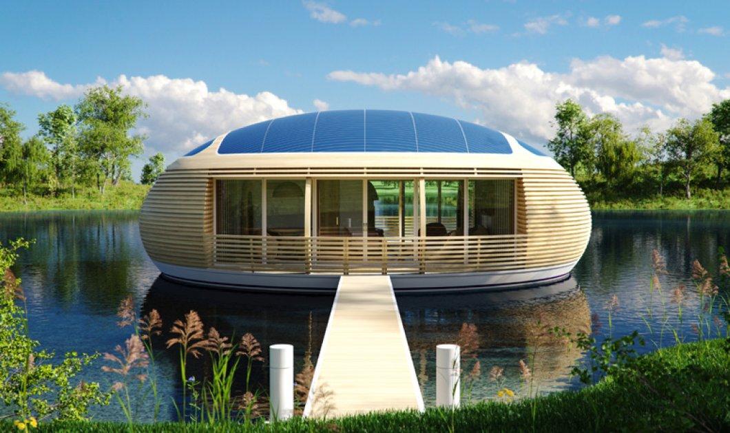 Το πιο περίεργο σπίτι που έχετε δει! Είναι πλωτό, ολοστρόγγυλο και 98% ανακυκλώσιμο! Δικό σας! - Κυρίως Φωτογραφία - Gallery - Video