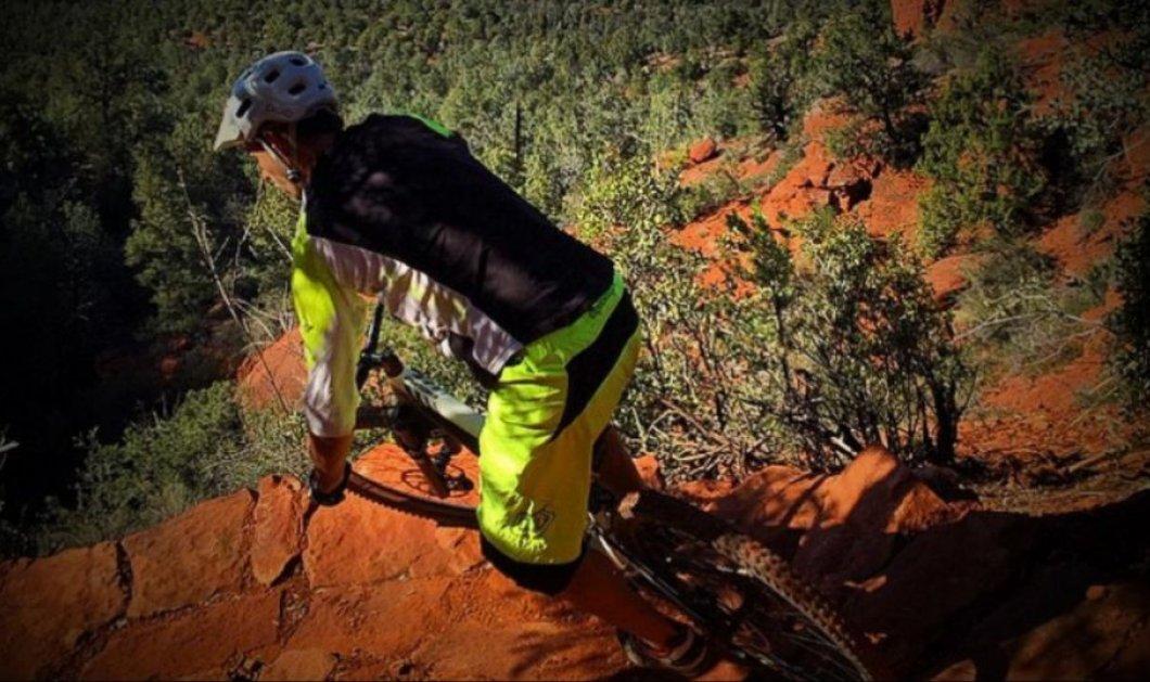 Βίντεο: Ο ποδηλάτης Michal Kollbeck διακινδυνεύει την ζωή του στη φημισμένη White Line της Αριζόνα αφηφώντας την βαρύτητα! - Κυρίως Φωτογραφία - Gallery - Video
