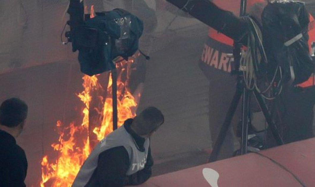 Επίθεση αγνώστων σε τηλεοπτικό βαν του OTE TV - Πέντε τραυματίες & χωρίς κάλυψη ο αγώνας Ηρακλής - ΑΕΛ! - Κυρίως Φωτογραφία - Gallery - Video