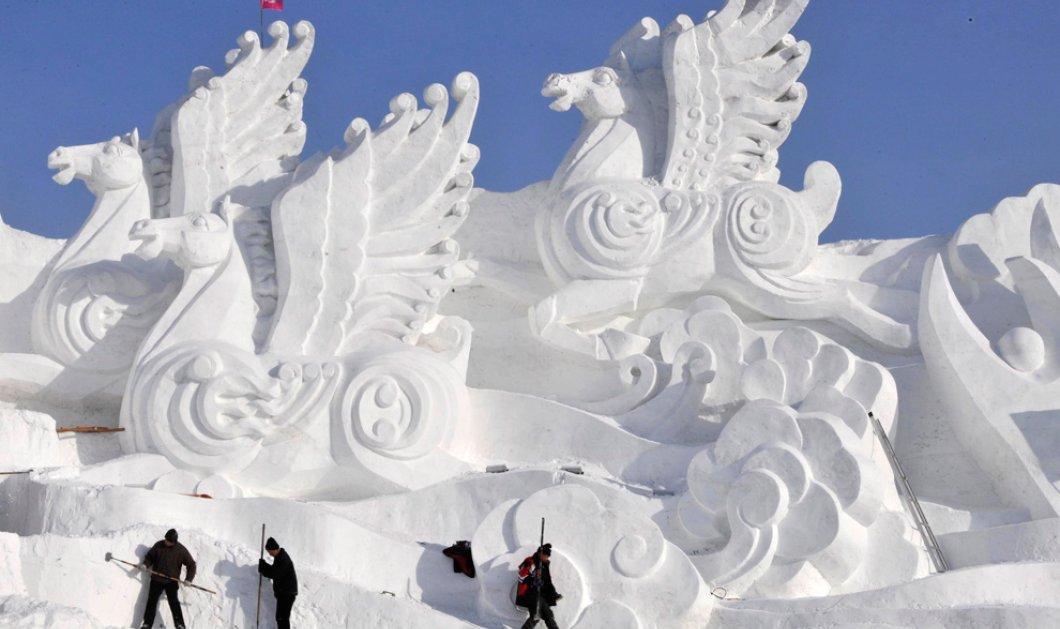Φαντασμαγορικές φωτογραφίες από το εντυπωσιακό Διεθνές Φεστιβάλ Πάγου και Χιονιού του Χαρμπίν! Απολαύστε το! (φωτό) - Κυρίως Φωτογραφία - Gallery - Video