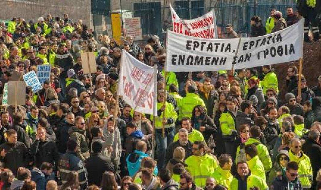 Αποχώρησαν από τη βουλή οι 7.000 μεταλλωρύχοι - Άνοιξαν οι δρόμοι του κέντρου! (Φωτό - Βίντεο) - Κυρίως Φωτογραφία - Gallery - Video