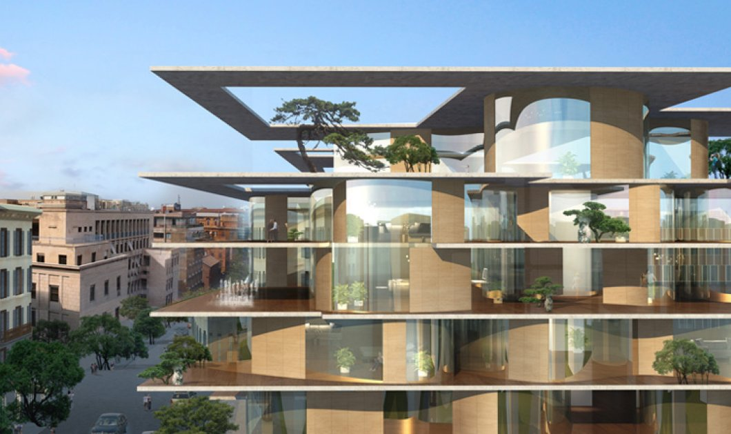 Η αστική γειτονιά της Ρώμης γίνεται πράσινη: Αρχιτέκτονες σχεδίασαν μία εκπληκτική πολυκατοικία με....οικολογικό στυλ!  - Κυρίως Φωτογραφία - Gallery - Video